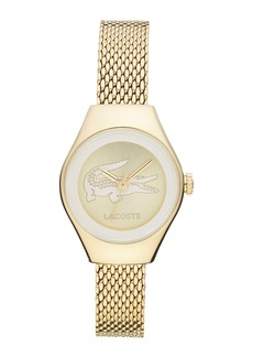 Lacoste 'Valencia' Small Logo Dial Mesh Strap Watch, 24mm