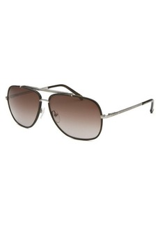 Lacoste Women's Aviator Dark Brown Sunglasses
