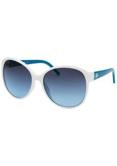 Lacoste Women's L!VE Cat Eye White Sunglasses