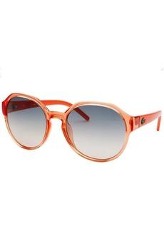 Lacoste Women's L!VE Round Translucent Orange Sunglasses