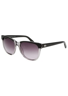 Lacoste Women's Rectangle Black Transparent Sunglasses
