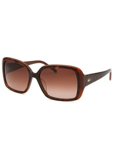 Lacoste Women's Rectangle Brown Polarized Sunglasses