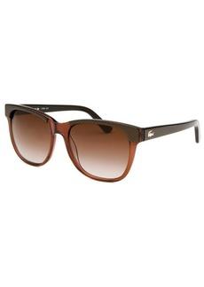 Lacoste Women's Rectangle Brown Transparent Sunglasses