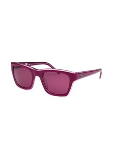 Lacoste Women's Rectangle Purple Sunglasses