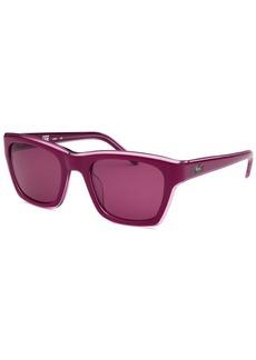 Lacoste Women's Rectangle Purple Sunglasses