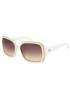 Lacoste Women's Rectangle White & Tan Sunglasses