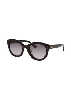 Lacoste Women's Round Black Sunglasses