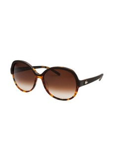 Lacoste Women's Round Brown Havana Sunglasses