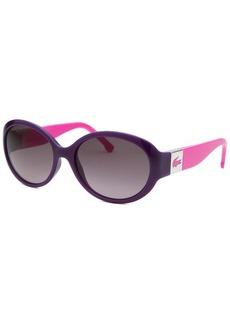 Lacoste Women's Round Purple Sunglasses