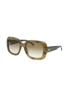 Lacoste Women's Square Green Horn Sunglasses