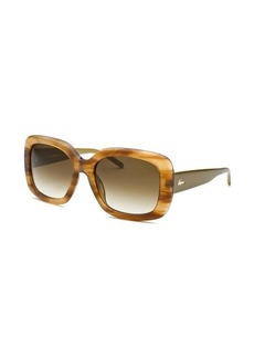 Lacoste Women's Square Light Brown Horn Sunglasses