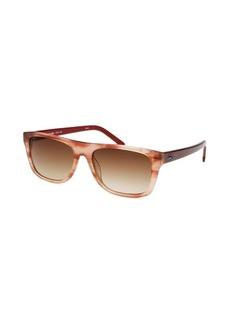 Lacoste Women's Square Rose Horn Sunglasses