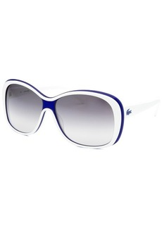 Lacoste Women's Square White and Blue Sunglasses
