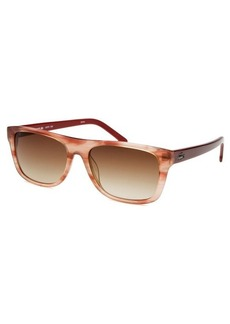Lacoste Women's Wayfarer Rose Horn Sunglasses