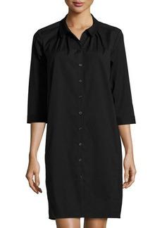 Lafayette 148 New York 3/4-Sleeve High-Low Shirtdress