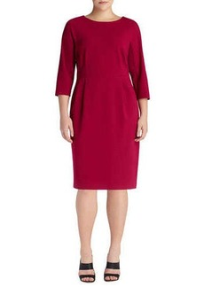 Lafayette 148 New York 3/4-Sleeve Sheath Dress, Wildflower, Women's
