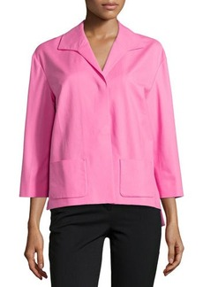 Lafayette 148 New York 3/4-Sleeve Snap-Front Topper