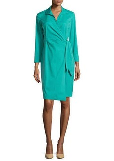 Lafayette 148 New York 3/4-Sleeve Wrap Dress