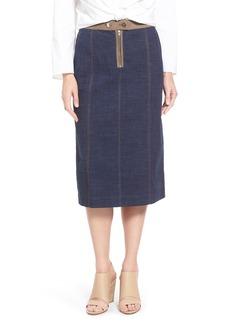 Lafayette 148 New York 'Lila' Indigo Canvas Skirt