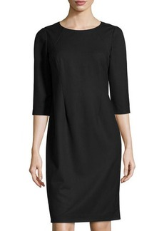 Lafayette 148 New York Abella Three-Quarter-Sleeve Shift Dress
