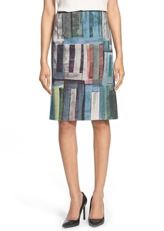 Lafayette 148 New York 'Adalyn' Print Pencil Skirt