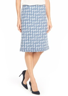 Lafayette 148 New York 'Adalyn - Brulee Tweed' Wool Blend Skirt