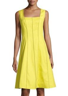 Lafayette 148 New York Adelaide Textured-Seam Sleeveless Dress