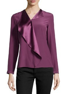 Lafayette 148 New York Ainslee Ruffle Flap-Collar Top, Fig