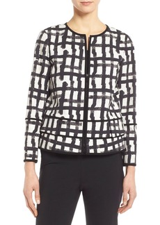Lafayette 148 New York 'Aisha - Modern Grid' Jacket