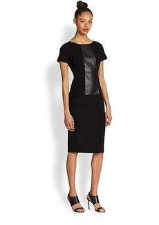 Lafayette 148 New York Alesandra Contrast-Panel Dress
