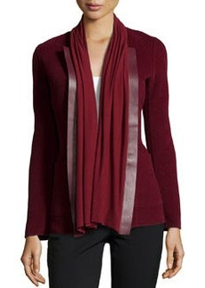 Lafayette 148 New York Alessa Double-Face Twill Jacket, Merlot