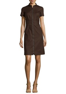 Lafayette 148 New York Allie Stretch-Knit Short-Sleeve Dress