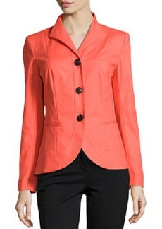 Lafayette 148 New York Allison Wing-Collar Jacket, Dayglow