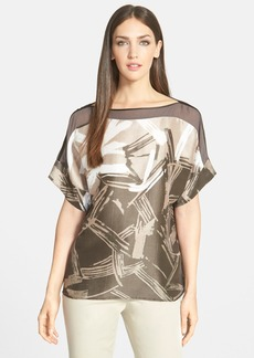 Lafayette 148 New York 'Alonza' Print Silk Blouse