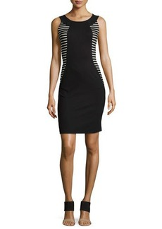 Lafayette 148 New York Alora Punto Milano Striped Dress