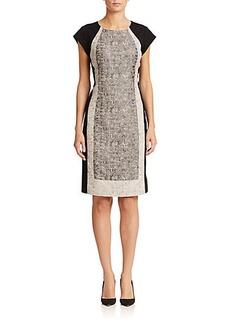 Lafayette 148 New York Analise Colorblock Jacquard Dress