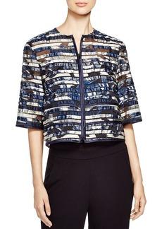 Lafayette 148 New York Angelica Abstract Print Devoré Jacket