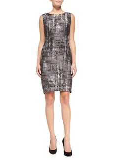 Lafayette 148 New York Angelina Sleeveless Printed Sheath Dress