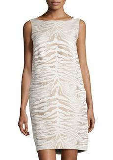 Lafayette 148 New York Animal-Print Jacquard Dress