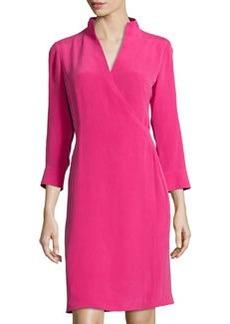 Lafayette 148 New York Aniya 3/4-Sleeve Dress, Glam Pink