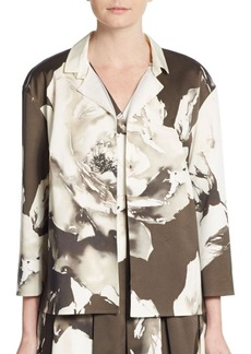 Lafayette 148 New York Ann Rose-Print Jacket