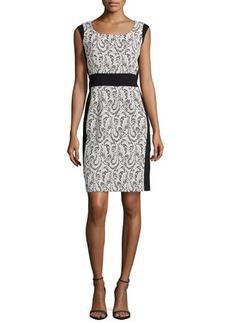Lafayette 148 New York Ansel Lace Panel Dress