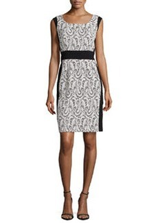 Lafayette 148 New York Ansel Lace Panel Dress
