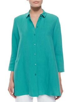 Lafayette 148 New York Ardene 3/4-Sleeve Long Blouse
