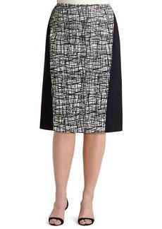 Lafayette 148 New York Ariella Printed-Panel Skirt