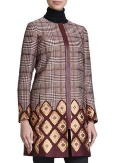 Lafayette 148 New York Aristocratic Long Houndstooth Coat