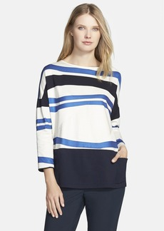 Lafayette 148 New York 'Artistico' Stripe Oversize Top