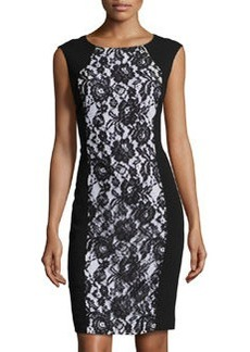 Lafayette 148 New York Astute Crepe Weave Dress, Black