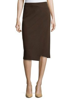 Lafayette 148 New York Asymmetric Faux-Wrap Pencil Skirt