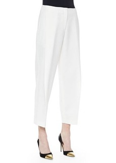 Lafayette 148 New York Asymmetric Pleated Ankle Pants